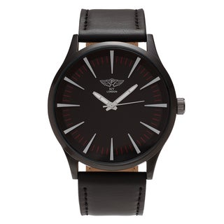 NY London Men's Round Quartz Dial Faux Leather Strap Watch|https://ak1.ostkcdn.com/images/products/17332425/P23577812.jpg?_ostk_perf_=percv&impolicy=medium