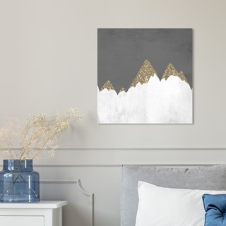 Oliver Gal 'Snow Mountain' Abstract Wall Art Canvas Print - Gold, White