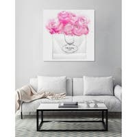 Oliver Gal 'Shopping for Peonies' Canvas Art