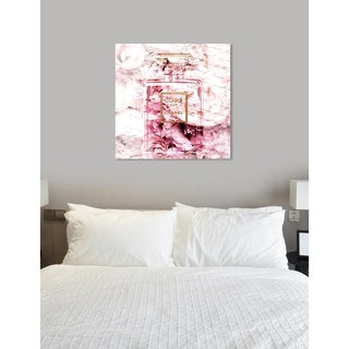 Oliver Gal 'Romantic French Perfume' Fashion and Glam Wall Art Canvas Print - Pink, Gold