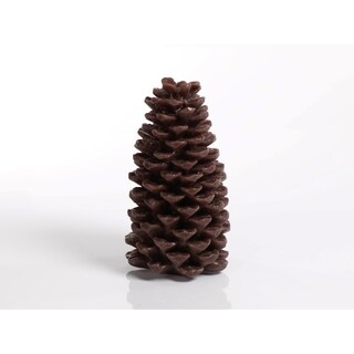 Large Candle, Pine Cone Shaped, Brown (Set of 2)