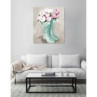 Oliver Gal 'Tulips In Spring Boots' Canvas Art