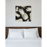 Oliver Gal 'White Pineapples' Canvas Art