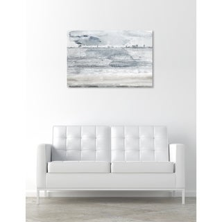 Oliver Gal 'Miami Bay Gray' Cities and Skylines Wall Art Canvas Print - Gray, Brown