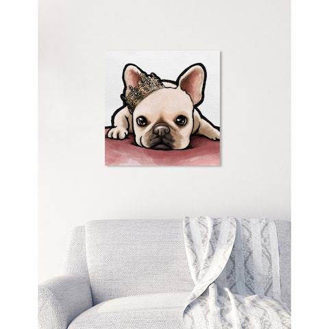 Oliver Gal 'ROYAL FRENCHIE' Canvas Art