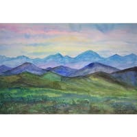'Behind the Mountains' Painting Print on Wrapped Canvas