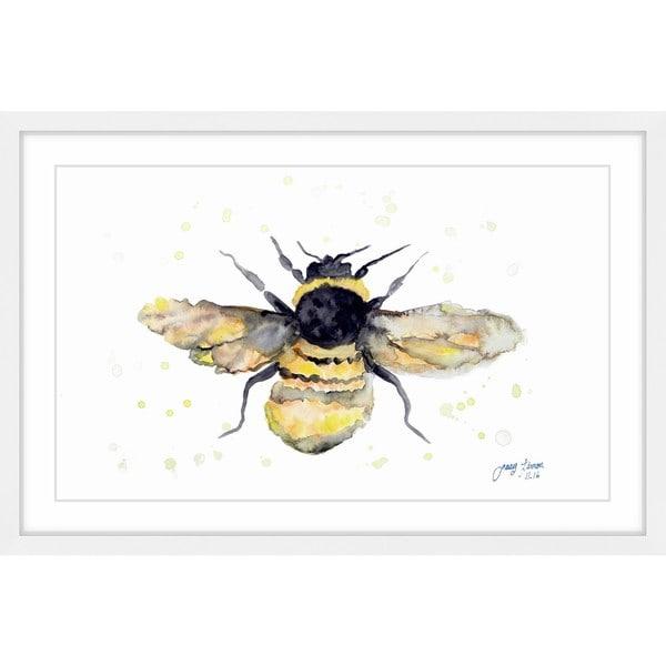 Handmade 'My Honey' Framed Painting Print (United States)