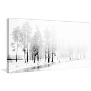 'Winter River' Painting Print on Wrapped Canvas