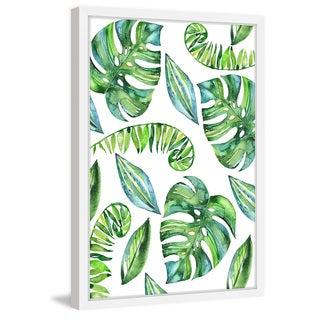 'Tropical Leaves II' Framed Painting Print