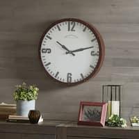 Madison Park Addie Dark Red/ Dark Brown Metal Wall Clock - Round 20 Inches