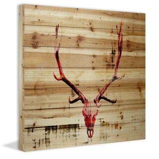 'Hot Temper' Painting Print on Natural Pine Wood