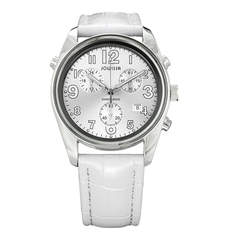Jowissa Men's Swiss-made Chronograph White Leather Strap Watch