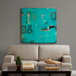 INK+IVY Urban Collage 1 Teal Printed Canvas