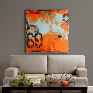 INK+IVY Urban Collage 2 Orange Printed Canvas