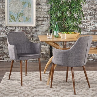 zeila midcentury modern fabric dining chair set of 2 by christopher knight