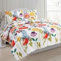 Delia's Garden 3 piece Reversible Quilt Set