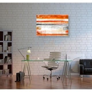 Link to Oliver Gal 'Clear Mind Orange' Abstract Wall Art Canvas Print - Orange, White Similar Items in Canvas Art