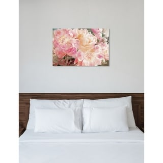 Oliver Gal 'Peonies Know' Floral and Botanical Wall Art Canvas Print - Pink, Orange