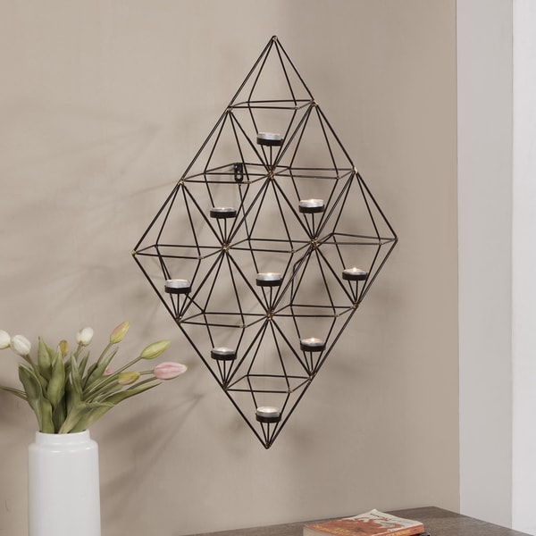 Danya B. Geometric Metal Wall Tea Light Holder