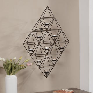 Danya B. Geometric Metal Wall Tea Light Holder