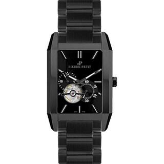 Pierre Petit Men's Black Stainless Steel Automatic Self-wind Bracelet Watch