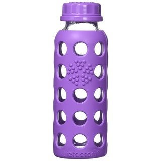 LifeFactory 9-ounce Glass Water Bottle with Flat Cap