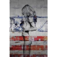 'Behind the Stripes' Painting Print on Brushed Aluminum (USA)