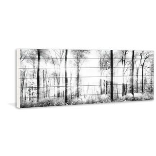 'White Light Forest' Painting Print on White Wood (USA)