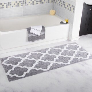 Windsor Home 100% Cotton Trellis Bathroom Runner - 24x60 inches
