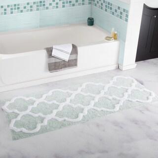 Windsor Home 100% Cotton Trellis Bathroom Runner - 24x60 inches (Option: Seafoam)