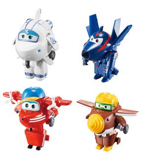 Super Wings Transform-a-Bots: Flip, Todd, Chase, Astra