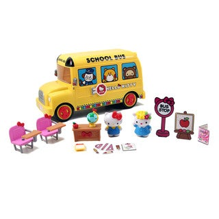 Jada Toys Hello Kitty Deluxe School Bus Playset