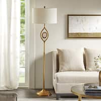 Madison Park Preston Gold Floor Lamp