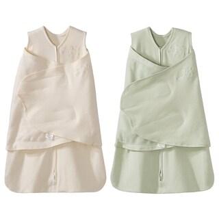 HALO SleepSack 100% Cotton Swaddle - Sage/Cream - Newborn (2-Pack)