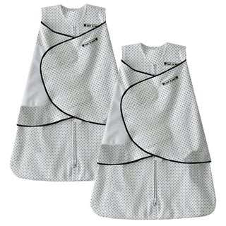 HALO SleepSack 100% Cotton Swaddle - Navy Blue Pin Dot - Newborn (2-Pack)