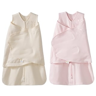 HALO SleepSack 100% Cotton Swaddle - Cream/Pink - Newborn - 2-Pack