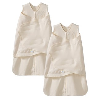HALO SleepSack 100% Cotton Swaddle - Cream - Small - 2-Pack