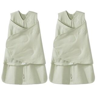 HALO SleepSack 100% Cotton Swaddle - Sage - Newborn - 2-Pack