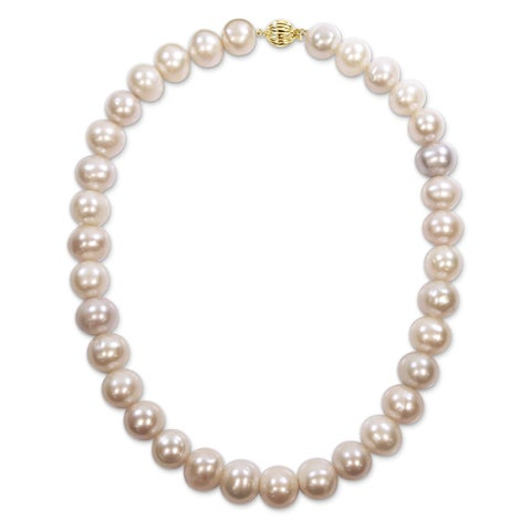 Miadora Signature Collection 14k Yellow Gold Multi-Color Cultured Freshwater Graduated Pearl Necklace (12-14 mm) - Multi