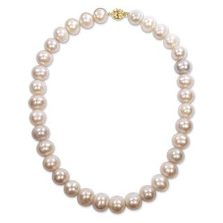 Miadora Signature Collection 14k Yellow Gold Multi-Color Cultured Freshwater Graduated Pearl Necklace (12-14 mm)|https://ak1.ostkcdn.com/images/products/17333701/P23578907.jpg?impolicy=medium