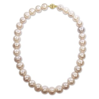 Miadora Signature Collection 14k Yellow Gold Multi-Color Cultured Freshwater Graduated Pearl Necklace (12-14 mm)