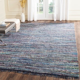 Safavieh Hand-Woven Rag Rug Bohemian Ink/ Multi Cotton Rug - 11' x 15'