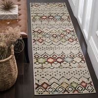 Safavieh Amsterdam Light Grey/ Multi Rug (2'3 x 10')