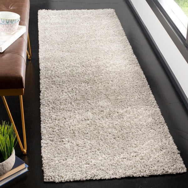 "Safavieh Arizona Shag Grey/ Ivory Rug - 2'3"" x 8'"