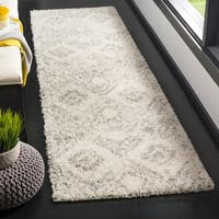 Safavieh Arizona Shag Ivory/ Grey Rug - 2'3 x 8'