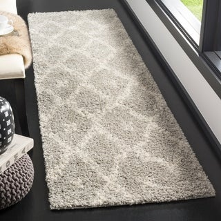 Safavieh Arizona Shag Grey/ Ivory Rug (2'3 x 8')