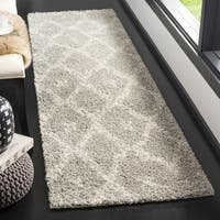 Safavieh Arizona Shag Grey/ Ivory Rug - 2'3 x 8'