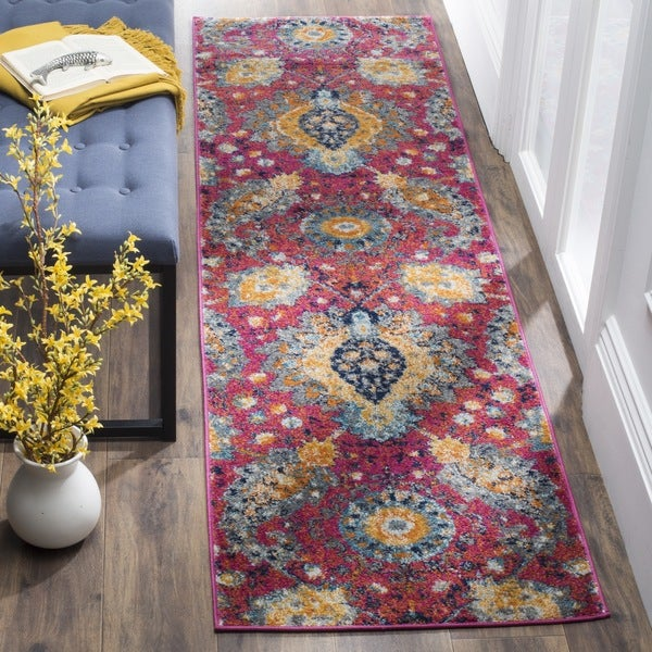 Safavieh Madison Fuchsia/ Gold Rug (2'3 x 6')