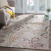 Safavieh Handmade Allure Grey/ Gold Wool Rug - 5' x 8'