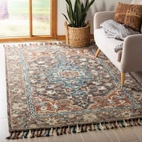 Safavieh Handmade Aspen Charcoal/ Light Brown Wool Rug (5' x 8')